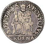 Paolo IV (1555-1559) Testone - Munt. 9 AG (g ...