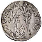 Paolo IV (1555-1559) Giulio - Munt. 19 AG (g ...