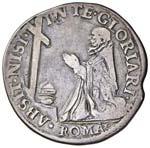 Pio V (1566-1572) Testone - Munt. 3 AG (g ...