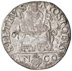 Pio V (1566-1572) Ancona - Testone - Munt. ...