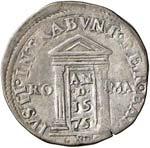 Gregorio XIII (1572-1585) Testone 1575 Porta ...