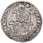 Gregorio XIII (1572-1585) Ancona Testone - ...