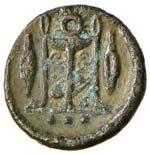 SICILIA Leontini Trias (422-353 a.C.) Testa ...