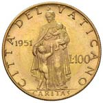 Pio XII (1939-1958) 100 Lire 1951 A. XIII - ...