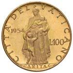 Pio XII (1939-1958) 100 Lire 1954 A. XVI - ...