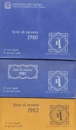 REPUBBLICA ITALIANA Divisionali 1980, 1981, ...