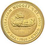 AUSTRALIA 50 Dollari 1988 Nugget ½ OZ - Fr. ...