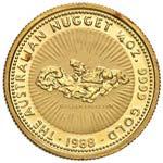 AUSTRALIA 25 Dollari 1988 Nugget 1/4 OZ - ...