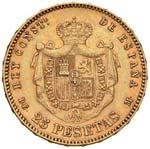 SPAGNA Alfonso XII (1874-1885) 25 Pesetas ...