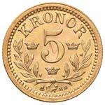 SVEZIA Oskar II (1872-1907) 5 Corone 1899 - ...