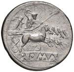 Anonime - Quadrigato (225-214 a.C.) Testa di ...