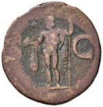 Agrippa (+ 12 a.C.) Asse - Testa a s. - R/ ...