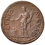 Nerone (54-68) Dupondio - Testa radiata a d. ...