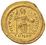 Giustino II (565-578) Solido - Busto elmato ...