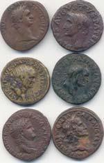 Lotto di 6 medi bronzi ...