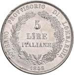 MILANO Governo Provvisorio (1848) 5 Lire ...