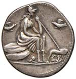 Anonime - Denario (115-114 a.C.) Testa ...