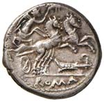 Cipia - M. Cipius M. f. - Denario (115-114 ...