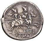 Itia - L. Itius - Denario (149 a.C.) Testa ...