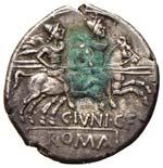 Junia - C. Junius C. f. - Denario (149 a.C.) ...