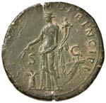 Traiano (98-117) Sesterzio - Testa laureata ...