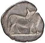 LUCANIA Sibari Statere (550-510 a.C.) Toro ...