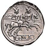 Anonime - Denario (dopo il 211 a.C.) Testa ...