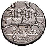 Lucretia - Cn. Lucretius Trio - Denario (136 ...