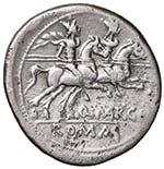 Marcia (148 a.C.) Denario Testa elmata di ...