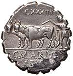 Maria (81 a.C.) Denario Testa di Cerere a ...