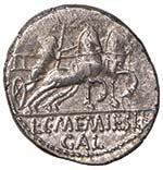 Memmia - L. Memmius Galeria - Denario (106 ...