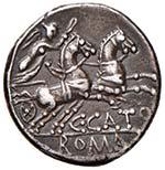 Porcia (123 a.C.) Denario Anepigrafo. Testa ...