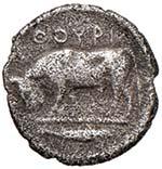 LUCANIA Thurium (329-270 a.C.) Anepigrafo. ...