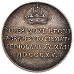 MILANO Francesco I (1815-1835) Medaglia 1815 ...