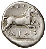 TESSAGLIA Larissa Dracma (440-400 a.C.) Uomo ...