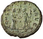 Aureliano (270-275) Asse - Busto laureato a ...