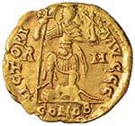 Valentiniano III (425-450) Solido (Roma) ...