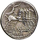 Aburia - B. Aburius Geminus - Denario (132 ...