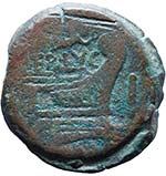 Terentia - Asse (147 a.C.) Testa di Giano - ...