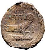 Titia - Asse (90 a.C.) Testa di Giano - R/ ...