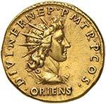 Adriano (117-138) Aureo (117) Busto laureato ...