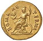 Adriano (117-138) Aureo - Testa a d. - R/ ...