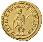 Ostiliano (251) Aureo - Busto drappeggiato a ...