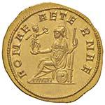 Tacito (275-276) Aureo (Ticinum) Busto ...
