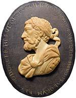 """""""Medaglione"""" di forma ovale col nome di ..."""