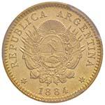 ARGENTINA Mezzo argentino 1884 – Fr. 16 AU ...