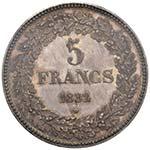 BELGIO Leopoldo I (1831-1865) 5 Franchi 1832 ...