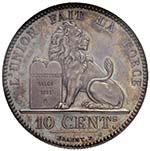 BELGIO Leopoldo I (1831-1865) 10 Centesimi ...