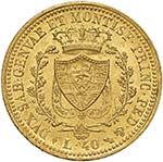 Carlo Felice (1821-1831) 40 Lire 1825 T – ...