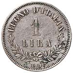 Vittorio Emanuele II (1861-1878) Lira 1863 T ...
